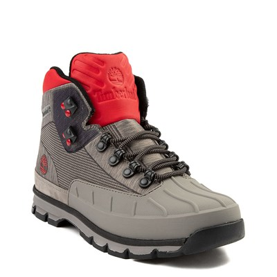 Alternate view of Mens Timberland Euro Hiker Shell-Toe Jacquard Boot - Gray / Red