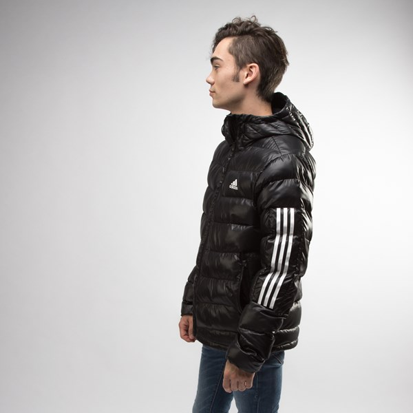 alternate view Mens adidas Itavic 3-Stripes Puffer Jacket - BlackALT2