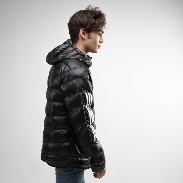 alternate view Mens adidas Itavic 3-Stripes Puffer Jacket - BlackALT3