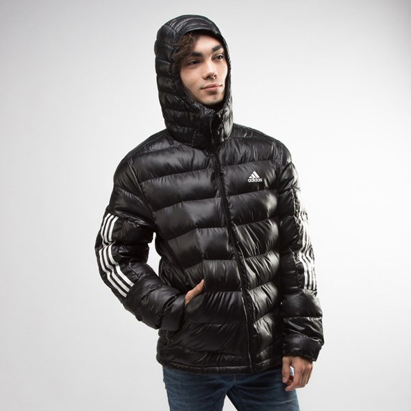 alternate view Mens adidas Itavic 3-Stripes Puffer Jacket - BlackALT4