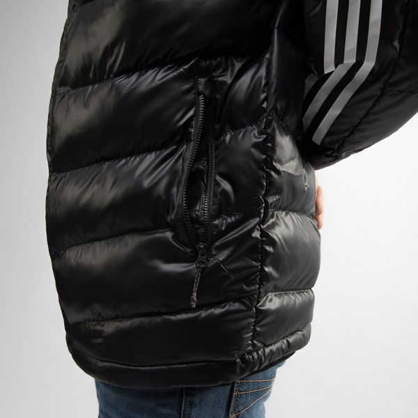 alternate view Mens adidas Itavic 3-Stripes Puffer Jacket - BlackALT6