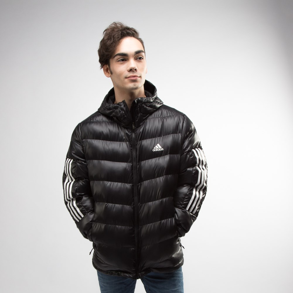 Mens adidas Itavic 3-Stripes Puffer Jacket - Black