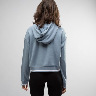 Alternate view of Womens adidas Trefoil Cropped Hoodie