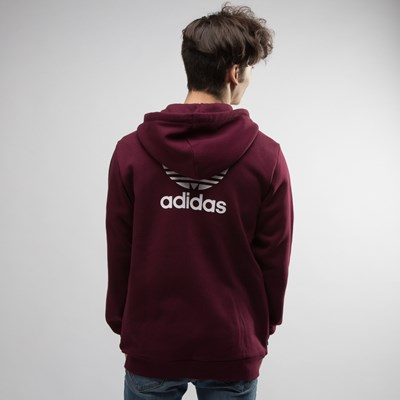 Alternate view of Mens adidas Trefoil Zip Up Hoodie
