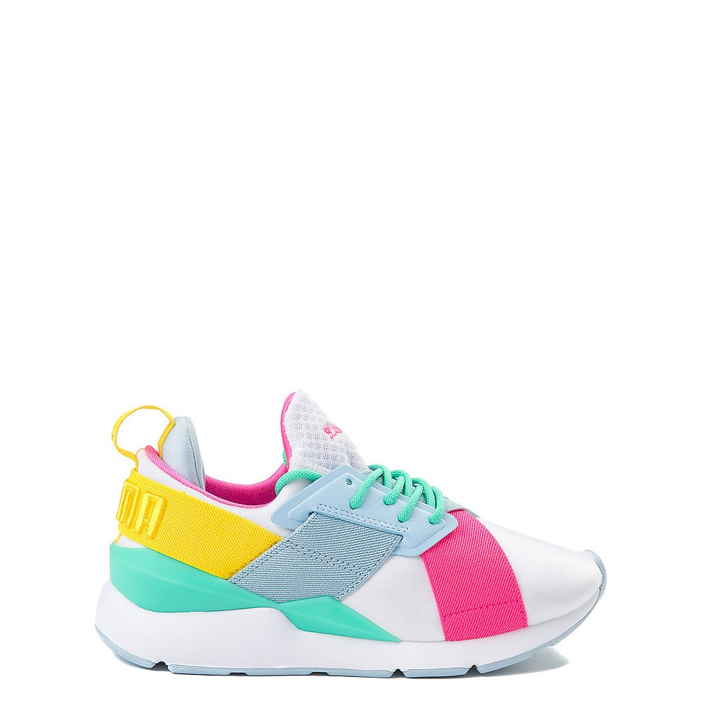 Puma Muse Satin Athletic Shoe - Big Kid
