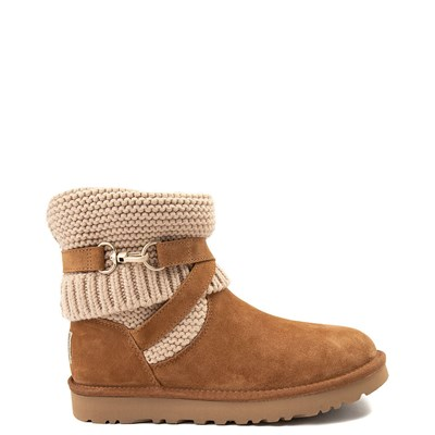 Main view of Womens UGG® Purl Strap Boot - Chestnut