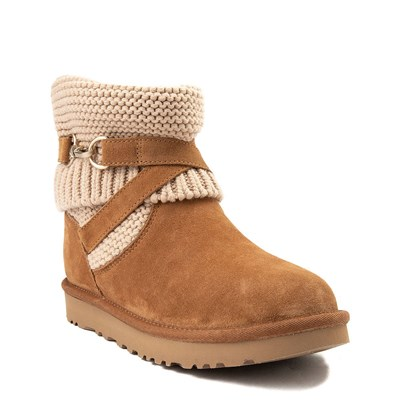Alternate view of Womens UGG® Purl Strap Boot - Chestnut