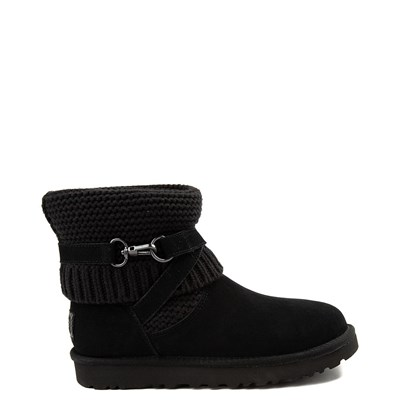 Main view of Womens UGG® Purl Strap Boot - Black