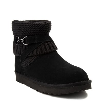 Alternate view of Womens UGG® Purl Strap Boot - Black