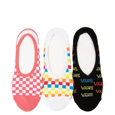 Main view of Womens Vans Checkerboard Logo Liners 3 Pack - Multi