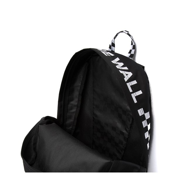 alternate view Vans Sporty Realm Checkered Backpack - Black / WhiteALT3