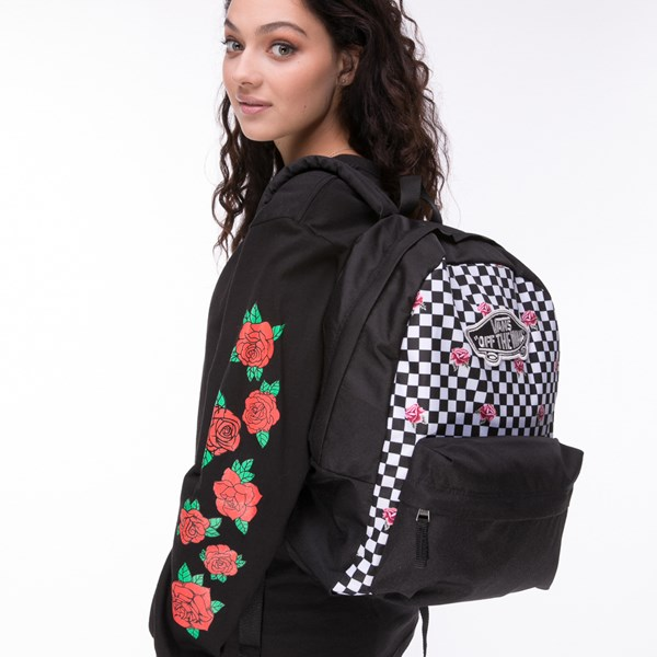 alternate view Vans Rose Checkered Realm BackpackALT4
