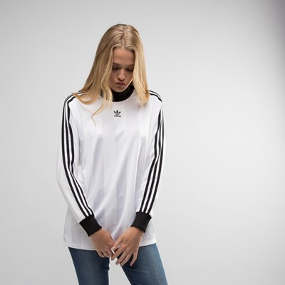 Main view of Womens adidas 3-Stripes Long Sleeve Crew Tee