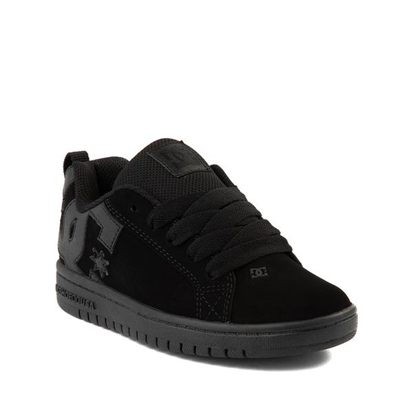 alternate view DC Court Graffik Skate Shoe - Little Kid / Big Kid - Black MonochromeALT5