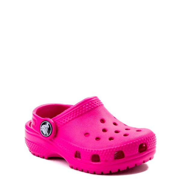 alternate view Crocs Classic Clog - Baby / Toddler / Little Kid - Dark PinkALT1