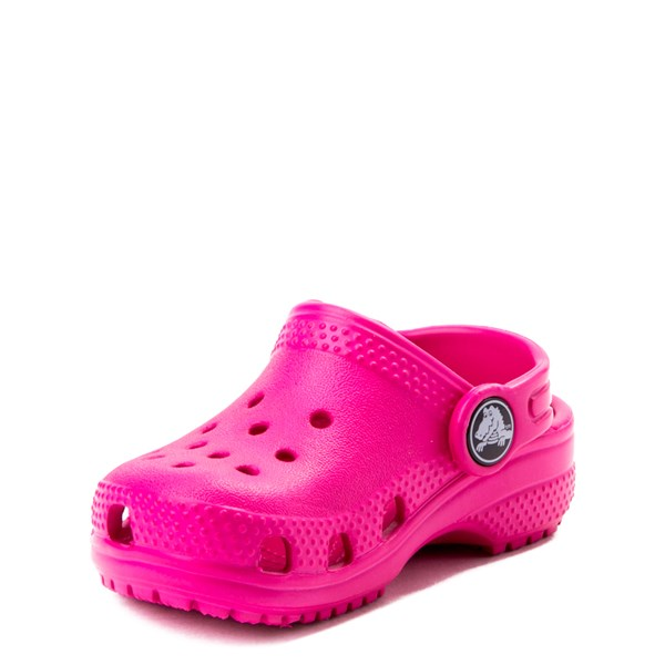 alternate view Crocs Classic Clog - Baby / Toddler / Little Kid - Dark PinkALT3