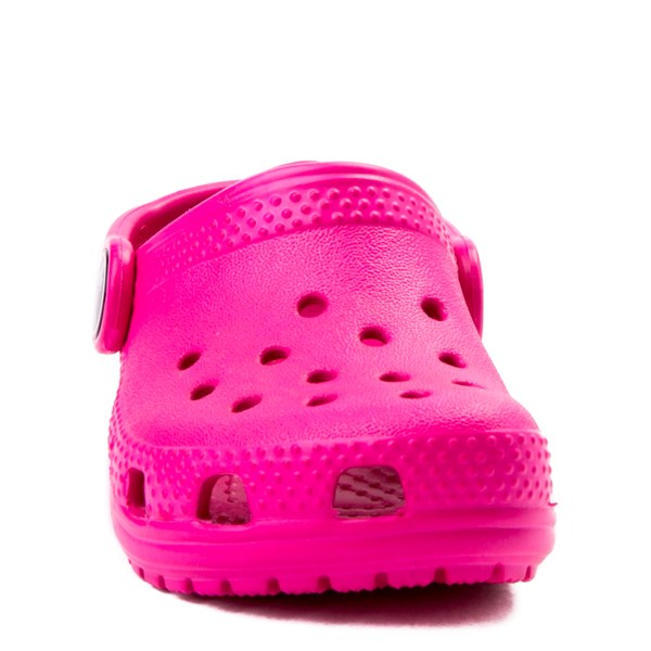 alternate view Crocs Classic Clog - Baby / Toddler / Little Kid - Dark PinkALT4