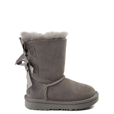 Main view of UGG® Bailey Bow II Boot - Toddler / Little Kid - Gray