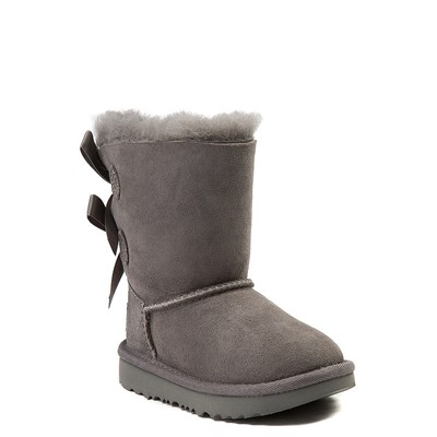 Alternate view of UGG® Bailey Bow II Boot - Toddler / Little Kid - Gray