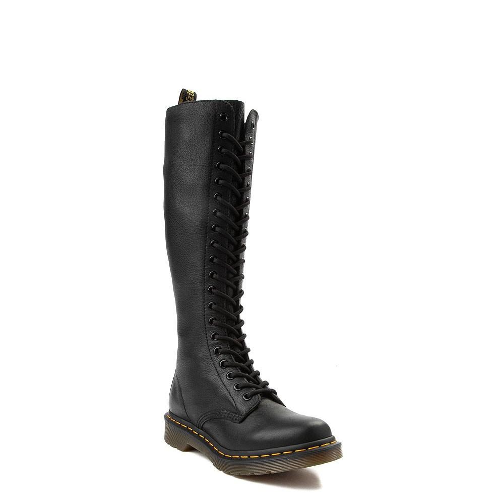 kolla upp Lagra officiell leverantör Womens Dr. Martens Virginia 20-Eye Boot - Black | Journeys