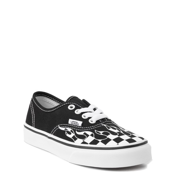 396da92a93b7 Vans Authentic Checkered Flame Skate Shoe - Little Kid