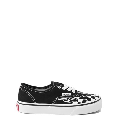 Youth Vans Authentic Checkered Flame Skate Shoe