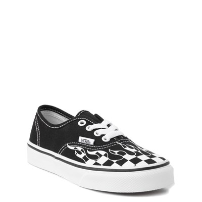 Alternate view of Vans Authentic Checkered Flame Skate Shoe - Little Kid