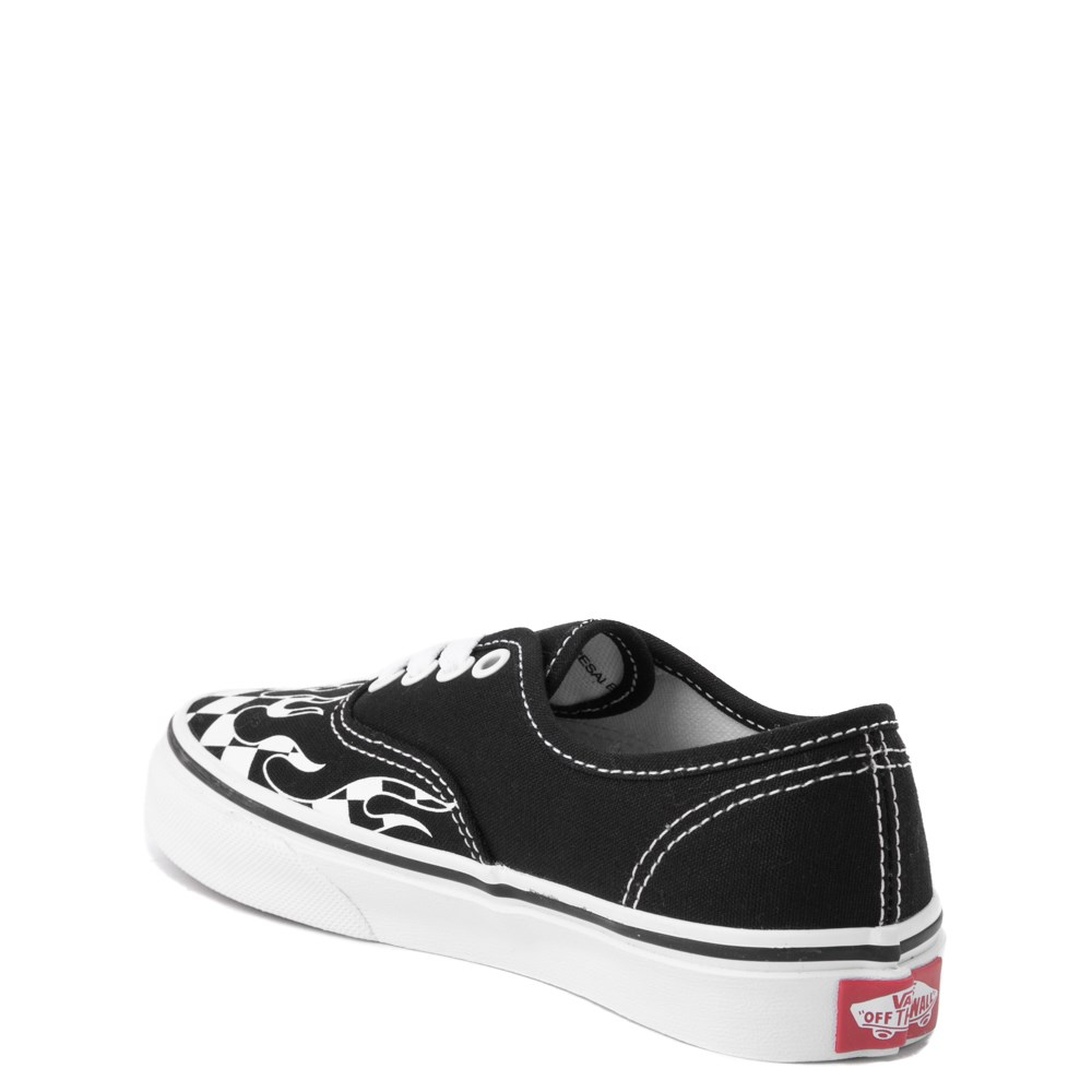 f21285cc0644e1 Vans Authentic Checkered Flame Skate Shoe - Little Kid