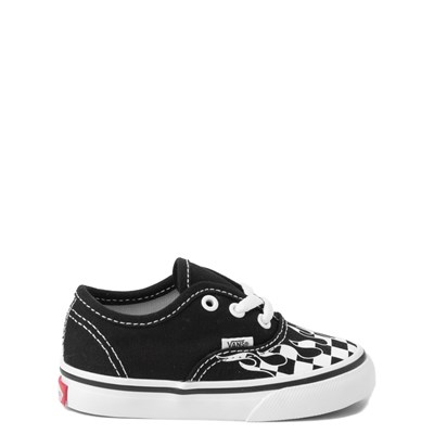 Main view of Vans Authentic Checkered Flame Skate Shoe - Baby / Toddler