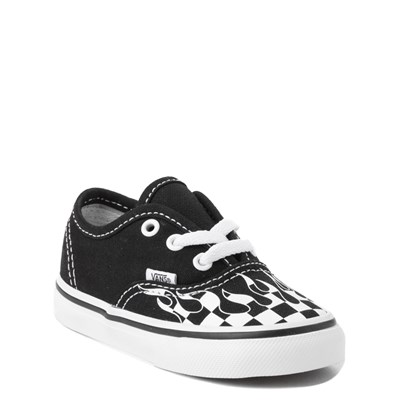 Alternate view of Vans Authentic Checkered Flame Skate Shoe - Baby / Toddler