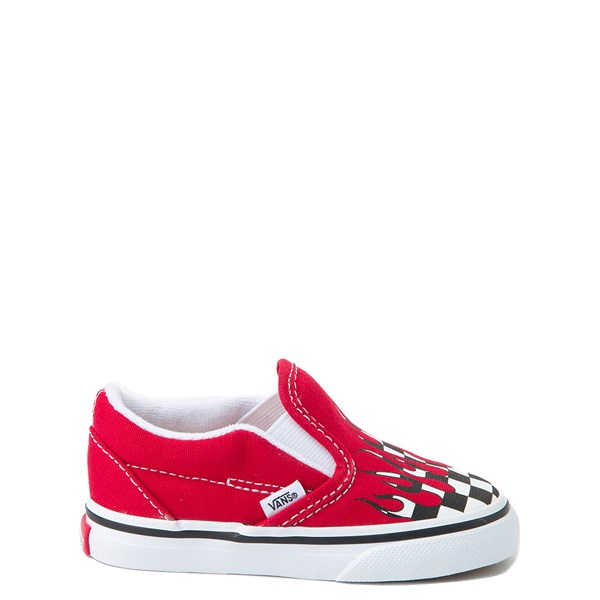 Vans Slip On Checkered Flame Skate Shoe - Baby / Toddler
