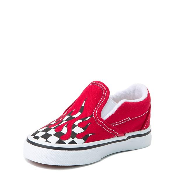 alternate view Vans Slip On Checkered Flame Skate Shoe - Baby / ToddlerALT3