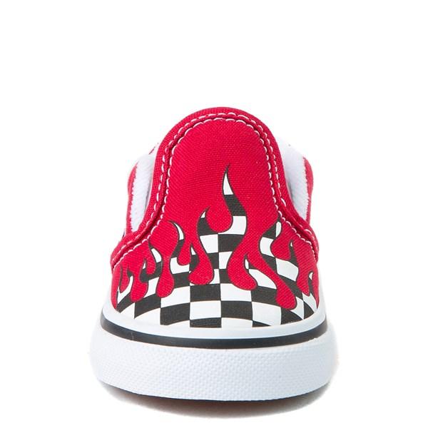 alternate view Vans Slip On Checkered Flame Skate Shoe - Baby / ToddlerALT4