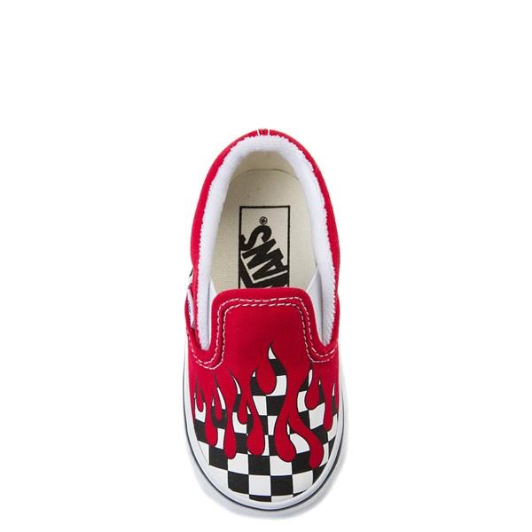 alternate view Vans Slip On Checkered Flame Skate Shoe - Baby / ToddlerALT6