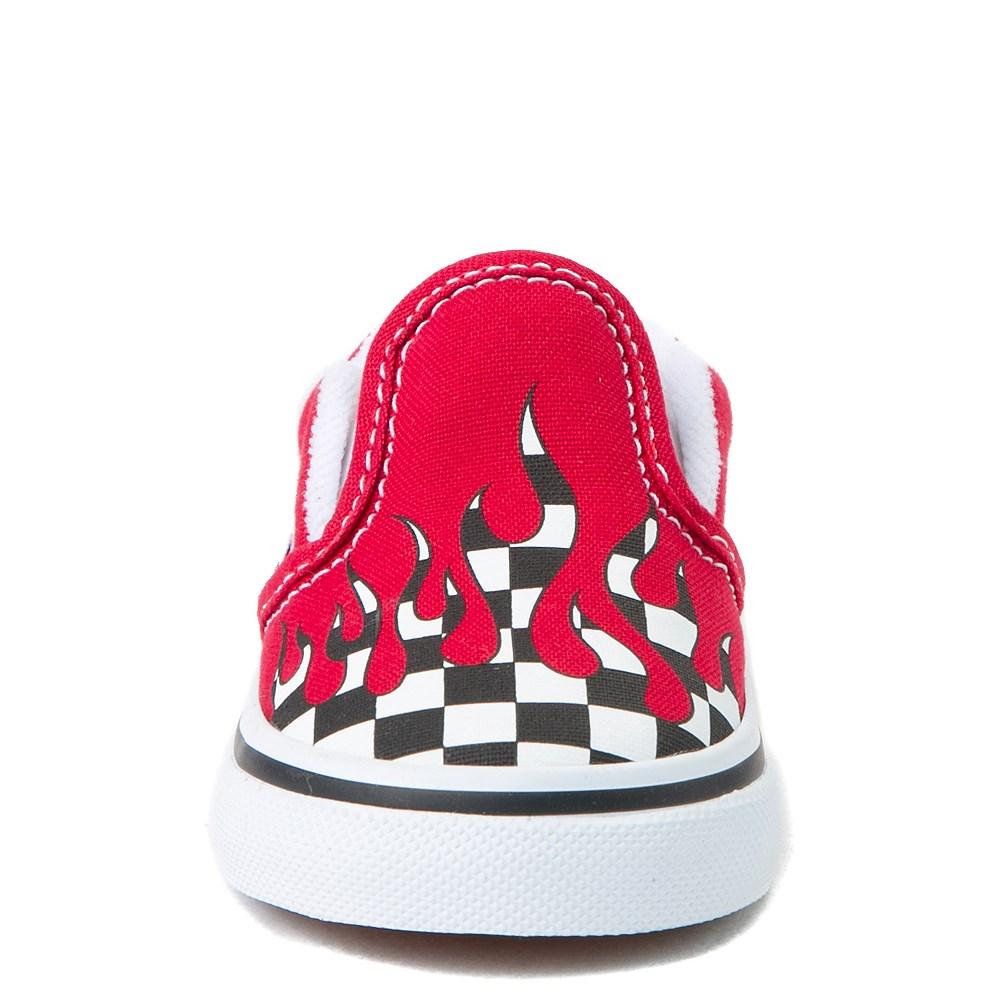 efc0ab55f0b82f Vans Slip On Checkered Flame Skate Shoe - Baby   Toddler