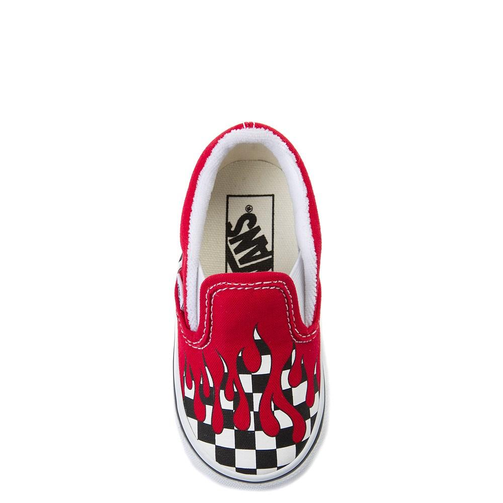 2303706957527a Vans Slip On Checkered Flame Skate Shoe - Baby   Toddler. Previous.  alternate image ALT6