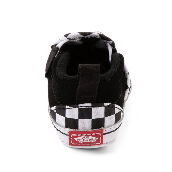 alternate view Vans Slip On V Checkerboard Skate Shoe - Baby - Black / WhiteALT4
