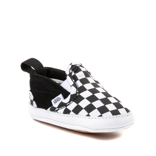 alternate view Vans Slip On V Checkerboard Skate Shoe - Baby - Black / WhiteALT5
