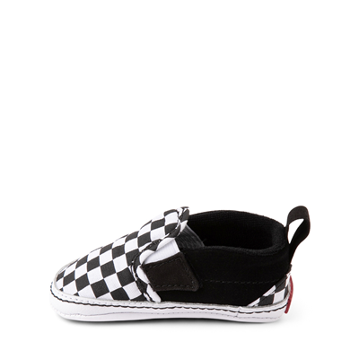 Alternate view of Vans Slip On V Checkerboard Skate Shoe - Baby - Black / White