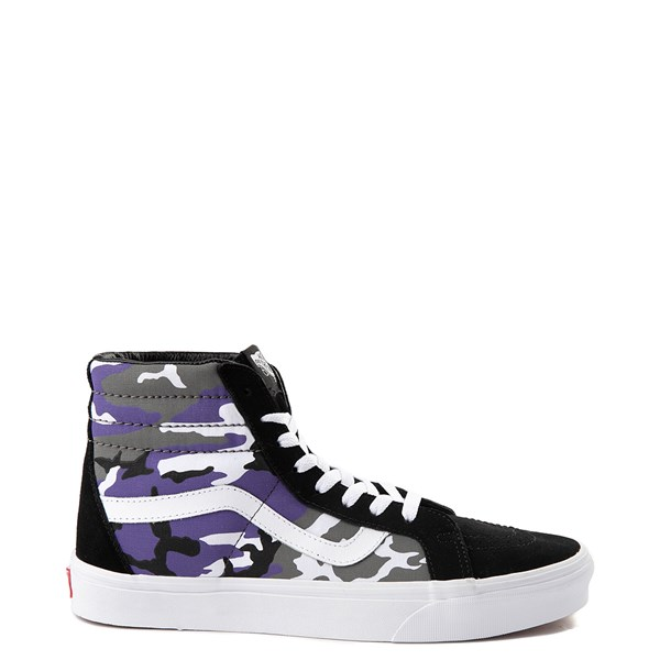 Default view of Vans Sk8 Hi Pop Camo Skate Shoe - Black / Multi