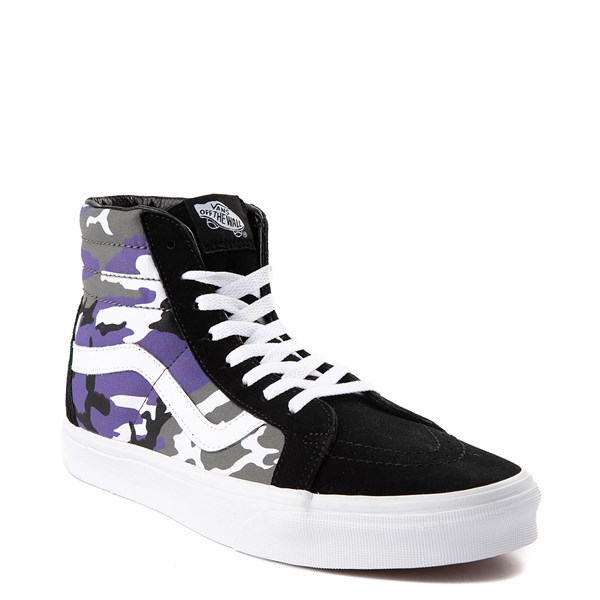 alternate view Vans Sk8 Hi Pop Camo Skate Shoe - Black / MultiALT1