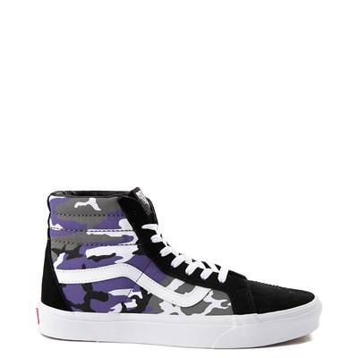 Main view of Vans Sk8 Hi Pop Camo Skate Shoe - Black / Multi