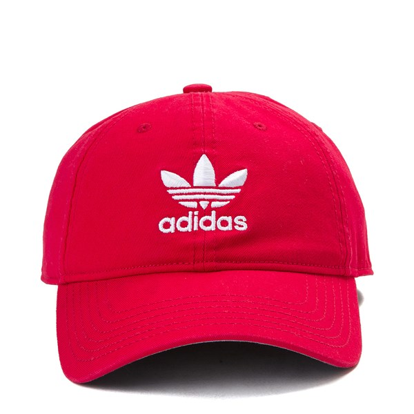 adidas Trefoil Relaxed Dad Hat - Red