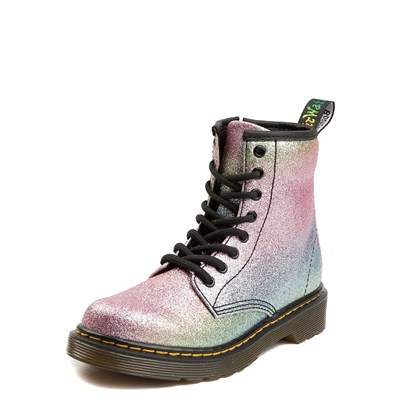 Alternate view of Dr. Martens 1460 8-Eye Glitter Boot - Girls Big Kid