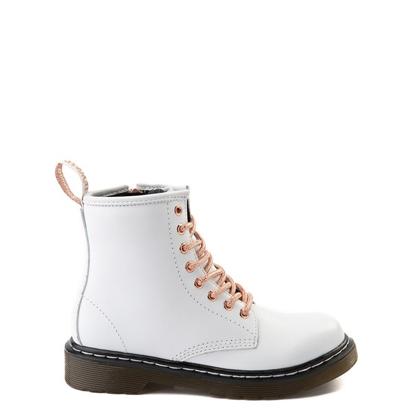 Dr. Martens 1460 8-Eye Boot - Girls Little Kid - White / Rose Gold