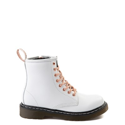Main view of Dr. Martens 1460 8-Eye Boot - Girls Little Kid - White / Rose Gold