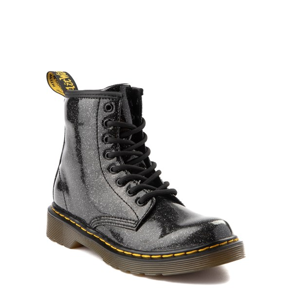 alternate view Dr. Martens 1460 8-Eye Glitter Boot - Girls Little Kid / Big Kid - BlackALT1