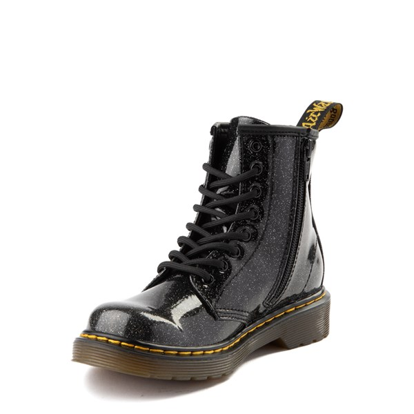alternate view Dr. Martens 1460 8-Eye Glitter Boot - Little Kid / Big Kid - BlackALT3