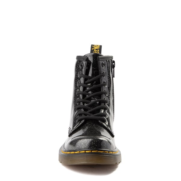 alternate view Dr. Martens 1460 8-Eye Glitter Boot - Girls Little Kid / Big Kid - BlackALT4