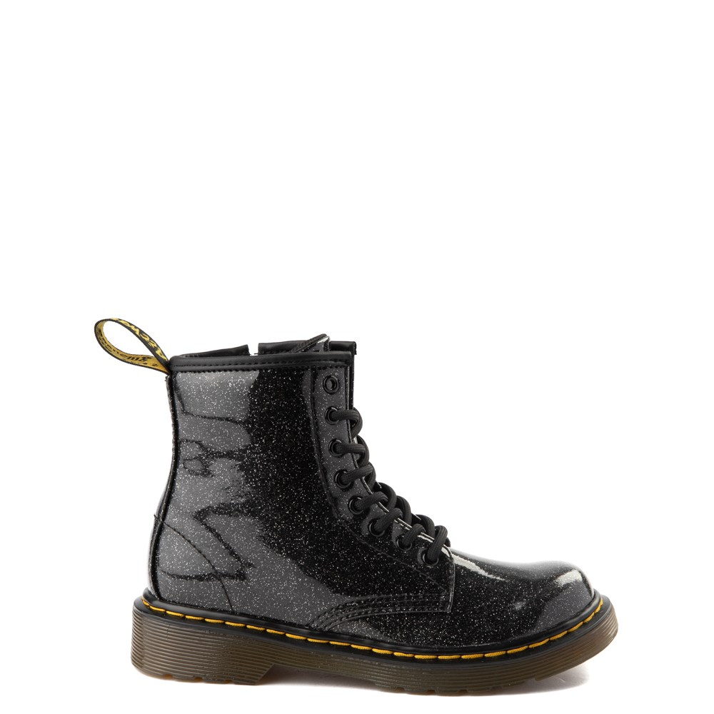 Dr. Martens 1460 8-Eye Glitter Boot - Girls Little Kid / Big Kid - Black